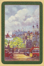 1 Single VINTAGE Swap/Playing Card EN BOAT CAR BUS 'TOWER OF LONDON TO-3-1-A'