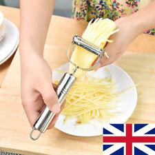 UK Stainless Steel Veg Fruit Planing Paring Knife Gourd Grater peeler/Zester PS