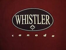 Whistler Canada Vacation Resort Souvenir Maroon Red T Shirt M