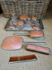 Regent Of London Dressing Table Vanity Set - Silver Colour - Mirror Brush Comb