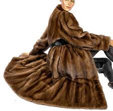 L SAGA MINK Nerzmantel Nerz Pelzmantel fur coat brown braun Visone Vintage Visón