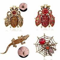 Vintage Crystal Bee Animal Brooch Pin Pendant Necklace Womens Jewellery Gift Hot