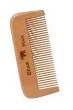 Beard & Mustache Comb by Bear Man Grooming All Natural PeachWood NEW Anti-Static