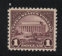 1917 Sc 571 $1 MNH VF pf 11 single  CV $75