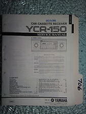 Yamaha ycr-150 service manual original repair book stereo car tape player radio