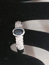 Handmade 18ct White Gold  Diamond And Saphire Ring