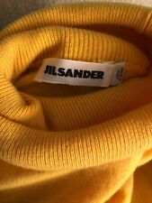 AUTHENTIC Jil Sander Yellow Cashmere Dolman Sleeve Turtleneck Sweater Top Size L