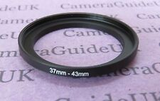 37mm to 43mm Male-Female Stepping Step Up Filter Ring Adapter 37mm-43mm