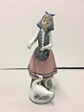 "Lladro ""Josefa Feeding Duck"" #5201 Mint Condition Retired No Box"