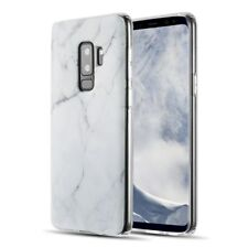 FOR SAMSUNG GALAXY S9 PLUS G965 WHITE MARBLE TPU SKIN FLEXIBLE RUBBER