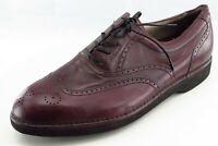 DressSports by Rockport Shoes Size 11 M Purple Wingtip Oxfords Leather Men