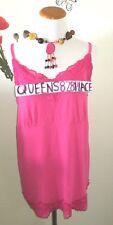 LANE BRYANT Womens Plus Size 14/16 Pink Stretch Lace Cami Tank Top blouse shirt