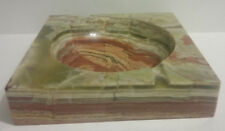 Vintage/Retro 1960's Hand-carved MARBLE ASHTRAY/BOWL--Thick, heavy-Art Deco feel