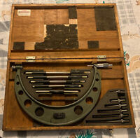 """Mitutoyo - Model No. 104-138A 6""""-12"""" Micrometer Used Machinist Lathe Standard"""