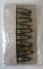 Coles One Touch Clips Sure Grip Non Slip Pk of 10 Brown Pins ( Damage Pack )