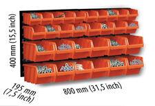 Tool Board Set Storage 32 Bins 6x8x12cm Wall Mounted Louvre 69 X 39cm Organiser