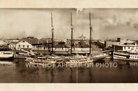 "Tampa Florida Waterfront 1909 Vintage Panoramic Photograph Panorama 35"" Long"