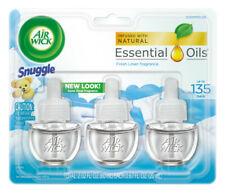 Air Wick Scented Oil, Snuggle Fresh Linen Scent, Triple Refill, 0.67 oz