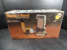 Black & Decker Sharp'n Sand Drill Powered Belt Sander - Vintage - NIB