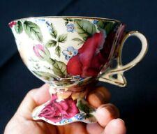 Vintage Season Collection Rose decor Small Breakfast Tea Cup