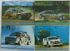 Lancia Delta Integrale 037 Rally Martini Racing Postcard Cartolina x 4 New