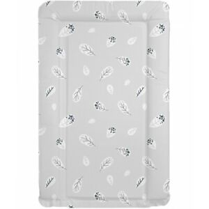 MollyDoo UK Made Baby Boys Girls Home Changing Mat Dove Grey Feathers Design
