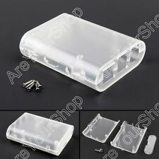 Clear ABS Plásticoc Case Box Enclosure Para Raspberry Pi 3 Pi 2 Model B + Screw.