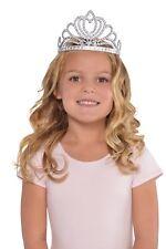 Enfant Argent Reine Princesse PLASTIQUE Couronne Diadème Habillage Accessoires