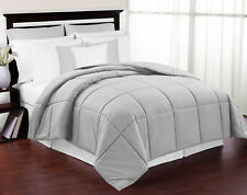 New Luxury Hypoallergenic Twin Size Grey Down Alternative Comforter Blanket