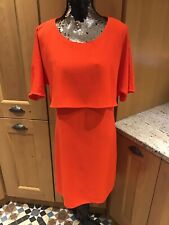 Marks And Spencer's Bright Orange Back Ribbon Tied Party Dress UK 8