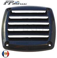 Grille Aération Carrée en Plastique 85 x 85 mm Noir