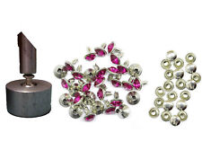 10/50pcs 10mm Crystal Diamante Rivets Studs 2 Part Setting Tool for DIY Crafts