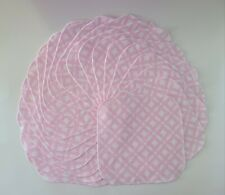 "Cloth Wipes 20 Baby Flannel 8""x8"" Girl Pink White Geo Diamonds Reusable Tissue"