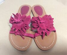 Fuchsia Pink Suede Toe Post Leather Sandals By CLARKS 5.5 UK Light Wear.