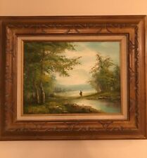 Landscape With A Lake & Figure by Sidney Richard Percy Reproduction Oil Painting