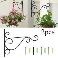 2x Crochet de pot de fleur murale support panier Plante maison jardin décoration