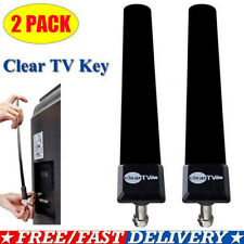 Hot 2x Clear Tv Key Hdtv Free Tv Stick Satellite Digital Antenna Ditch Cable Usa