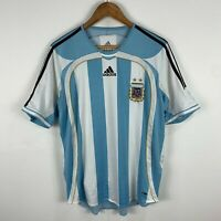 Adidas Aegentina Football Jersey Shirt Mens Medium #10 Messi 06/07 Retro Kit