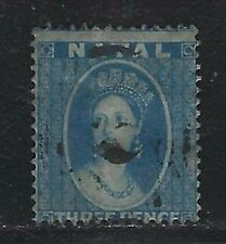 1861 Natal Scott #11 (SG #11) - 3d Queen Victoria Stamp - Used