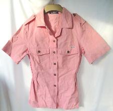 Lee Cooper Pink Shortsleeve Shirt Elastic Waist Pockets 16 LL Made in England