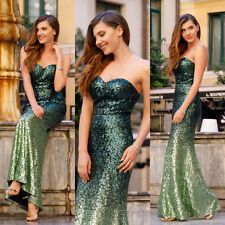 Sequin Dresses Maxi with Strapless/Bandeau