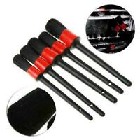 5pcs Car Detailing Brush Set Detail For Cleaning Wheels Vent Engine Air N1T4