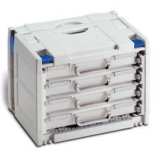 TANOS Rack Systainer IV lichtgrau mit 4 herausnehmbaren Rack Boxen