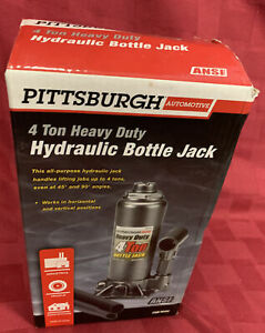 PITTSBURGH 4 TON 8,000 LBS HEAVY DUTY HYDRAULIC BOTTLE JACK NEW Open BOX