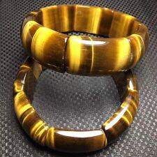 Genuine Natural Yellow Tiger Eye Gemstone Rectangle Beads Nice Bracelet Aaa