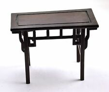 Chinese ROSEWOOD miniature DOLL Table furniture Natural Wood Stand Figurine