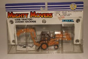 Ertl Mighty Movers, Case Tractor Loader Backhoe, Model 580E, 1/64th Scale