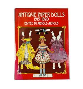 Vintage 1975 Antique Paper Dolls 1915-1920 Arnold Arnold Uncut