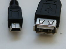 Phone USB to Mini USB( 5 pin)convertor, Data cable.25cm