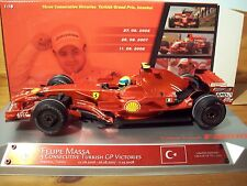1/18 FERRARI F2008 FELIPE MASSA TURKEY GP WINNER 3 YEARS IN A ROW